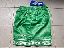 Super Shiny Green with White Stripped Smooth Nylon Satin Glanz Soccer Shorts M
