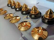 12Set Solid Brass Speaker Stand Spikes Isolation Cone Feet Base Spike