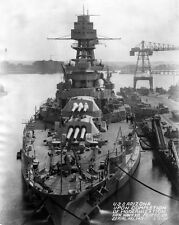 New 8x10 Navy Photo: USS ARIZONA at Norfolk Naval Shipyard in Portsmouth, 1931