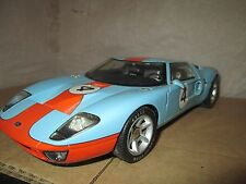 BEANSTALK GROUP FORD GT 40 blue super detail no box car is great  gulf heritage