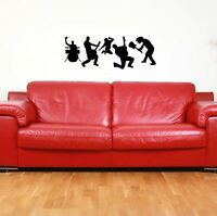 Rock Band silhouette Set / Wall Art Vinyl Decal Stickers