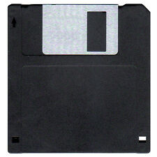 Box of 100 Floppy Disks DS/HD. Diskettes are IBM Formatted 1.44 MB. Color Black