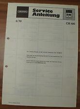 Cassetten Player CB190 CB200 CB210 Grundig Service Manual Serviceanleitung