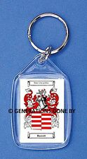 BARRETT (IRISH) COAT OF ARMS KEY RING