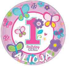 """1st Birthday Girl Personalised Cake Topper Edible Wafer Paper 7.5"""""""