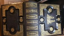 ANTIQUE HOLY FAMILY KING JAMES BIBLE FAMILY PAGES 1881
