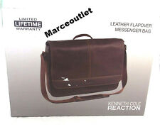 Kenneth Cole Reaction Colombian Leather Single Gusset Messenger Bag Brown  $300