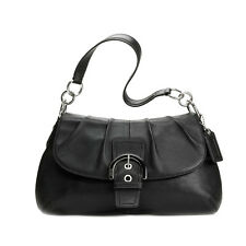 Unused COACH Medium Black Shoulder Bag Soho Leather Flap #F17217 (MSRP $348)