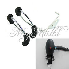 Not Spiral Hair Dryer Stand Holder Iron Blower Wall Mount Bracket Organizer W