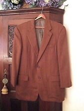 Hickey Freeman Canterbury Sport Coat Vicuna Brown Herringbone Camel Hair 40R