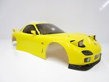 Tamiya 1/10 Mazda RX-7 Yellow 187mm On Road Body Shell W/ LED Light Kit OZ RC