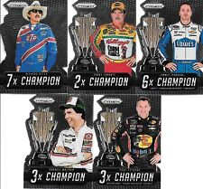 2016 PANINI PRIZM ~CHAMPION~ COMPLETE DIE-CUT INSERT SET (1-5)