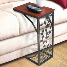 Side Sofa End Table Wood Desk  Sofa, Chair TRAY SLIDE UNDER COUCH LEAF ACCENT