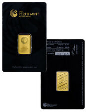 Perth Mint 5 Gram .9999 Gold Bar -New Sealed With Assay Certificate SKU27176