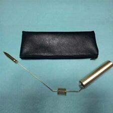 aurameter dowsing rods divining rods metal brass healing gold plated aurameter