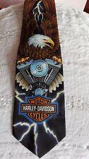 """Ralph Marlin con licencia oficial de Harley Davidson corbata para hombre de ancho 4"""" Excelente"""
