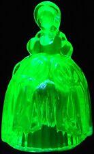 Green Vaseline glass Melissa Doll Figurine uranium princess ballerina ball room