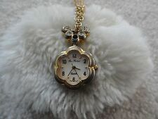 Pretty Ladies Rene Rochard Quartz Necklace Pendant Watch