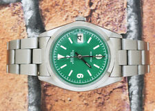 Gents Beautiful Green Dial Stainless Steel Vintage Rolex Oysterdate Precision.