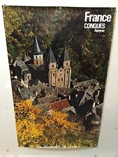 Original Vintage Travel Poster France Conques Aveyron Airline Railroad