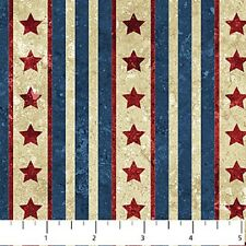 Stonehenge Old Glory Land of the Free Quilt fabric Cotton BTY Stars Stripe