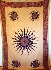CELTIC Sun TRIBAL Cotton NEW AGE Hippie Tapestry Bedspread Wall Hanging Bedding