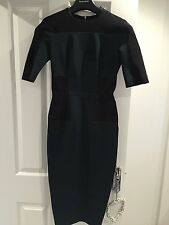 Womens Green And Black Victoria Beckham Dress Size 8 Originally £1300