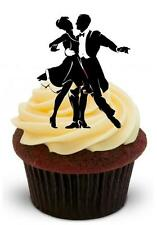 NOVELTY Dashing Couple Dancing Silhouette 12 STANDUP Edible Cake Topper Ballroom
