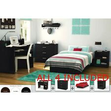 Full Bedroom Furniture Set Bed Nightstand Armoire Dresser Study Desk Storage Kid
