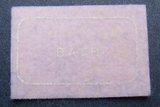 1:12 Scale Pink Bath Room Felt Rug Mat Dolls House Miniature Carpet Accessory