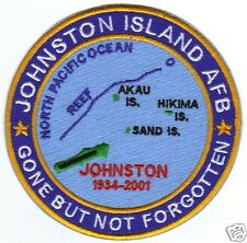 USAF PATCH, JOHNSTON ISLAND AFB, NORTH PACIFIC OCEAN, GONE BUT NOT FORGOTTEN Y