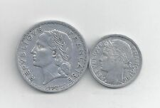 2 OLDER COINS from FRANCE - 1 & 5 FRANCS (BOTH 1949)