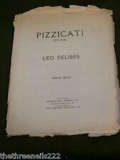 ORIGINALE SPARTITI MUSICALI-Pizzicati Assolo di pianoforte