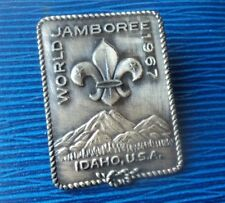 Rare 12th World Boy Scout Jamboree Pewter Metal Badge  1967 Idaho USA