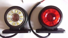 2 pcs 24V LED Side Marker Lights Rotating/Spinning/Running Lamp for Iveco Scania