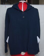 J.Crew  100% CASHMERE hooded loose slouchy poncho SWEATER Size XS Navy