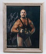 Vladimir Koloff Autographed Signed Photo NWA WCW ECW Wrestler 1991-2001