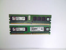 Memoria RAM 1gb = 2x 512mb ddr2 SDRAM Kingston pc2-5300 667mhz probado