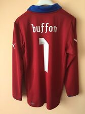 4.9/5 Italy (ITALIA) Euro 2012 Goalkeeper #1 BUFFON PLAYER ISSUE Shirt JERSEY