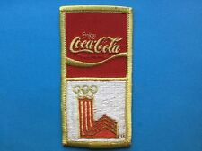 Rare 1980 Olympic Winter Games Lake Placid Coca Cola Jacket Sponsor Patch Crest
