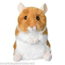 "BRUSHY Hamster stuffed animal Douglas Cuddle plush 4"" tall stuffed tan white toy"