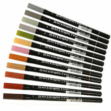 ZIG Art and Graphic Twin Watercolour Marker 12 Piece Set - Muted Tones