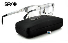 New Spy Optic JACKSON Rx Eyeglasses | Brushed Silver with Clear Demo Lens