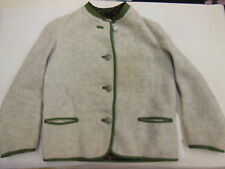 100% Wool Traditional Austria Bavarian Jacket w/ Andreas Hofer 1809 buttons EUC
