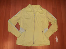 NWT Womens TANGERINE Active Neon Green Track Reflective Jacket Full Zip L Large