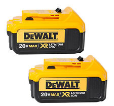 2X DEWALT DCB204 20V 20 Volt Max Premium XR 4.0 Ah Lithium-Ion Cordless Battery