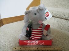 Coca Cola Brand Plush Collection Summertime Elephant Swimsuit Pool Coke Bottle