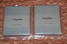 2 pcs Standard pillow cases Sham Calvin Klein HOME Laguna Rib $200.00 NWT
