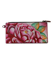 Anna by Anuschka Precious Peony    Hand - Painted  Leather Wallet  NWT