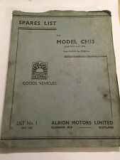 ALBION CH13 CHIEFTAIN SUPER SIX OEM SPARE PARTS NUMBER reference  MANUAL